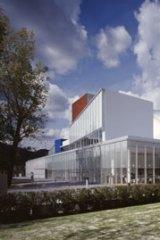 Fumihiko Maki's Mihara Performing Arts Centre.