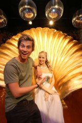 Waxing lyrical: Tim Phillipps, who plays the son of Charlene and Scott in <i>Neighbours</i>, at Madame Tussauds.