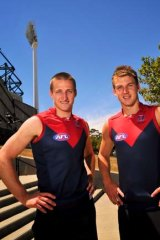 Jack attack ... New Melbourne captains Jack Grimes and Jack Trengove.