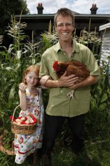 Sustained ...Local Harvest's Nick Ray with daughter Talitha.