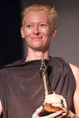 Tilda Swinton is honoured as the 2010 Excellence In Acting Award in Provincetown, Massasschusetts.