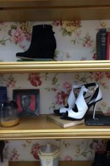 Stepping out: A shoe shop display that make use of old books.