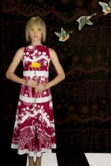 Slowly does it: A hand-printed dress from Bird Textiles.
