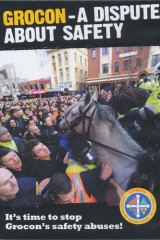 The cover of the DVD released by the CFMEU.
