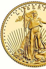 The smallest American Eagle coin is about the size of a five-cent coin, has a face value of five dollars and costs about $200 - but demand has been so high this week that the US Mint has run out of them.