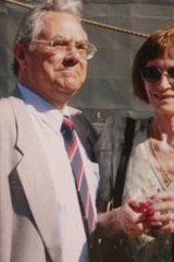 ''Horrible life since my husband went'' ... Eileen Wright with her late husband, Tony.