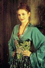 Cameron Diaz wears a costume designed by Sandy Powell in <I>Gangs of New York</i>.