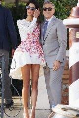 Amal's post wedding Giambattista Valli dress.