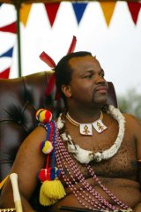 The King of Swaziland was in Taiwan at the time.