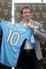 Numbers man: Alessandro Del Piero is due to arrive in Sydney next week to join Sydney FC.