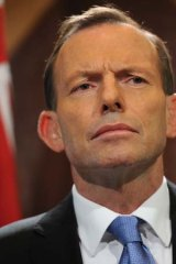 Imposing figure ... Tony Abbott.