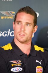 Eagles recruit Ashton Hams will play his first game for the Eagles against Essendon.