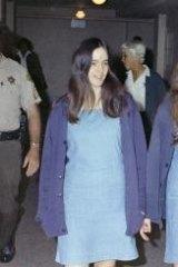 Charles Manson followers, from left, Susan Atkins, Patricia Krenwinkel and Leslie Van Houten, walk to court.