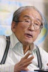 Foresaw disaster ... acclaimed author Sakyo Komatsu.