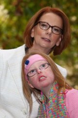 Ms Gillard with Sophie Deane.
