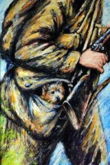 Illustrations from  <i>Digger, The Dog Who Went to War</i> by Mark Wilson.