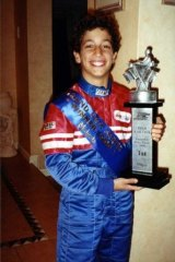 On track: Ricciardo as an 11-year-old go-kart champion.