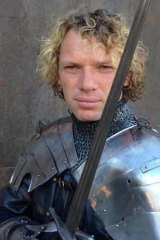 Phillip Leitch, who assumes knightly duties at Ballarat's Kryal Castle.