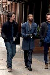 Male bonding: from left, Miles Teller, Michael B. Jordan and Zac Efron step