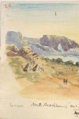 <i>North Beach Evening</i>, by Leslie Hore, November 5, 1915.