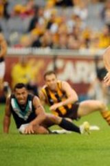 Catch him if you can: Cyril Rioli will encounter one Swans player who knows his tricks tomorrow night.