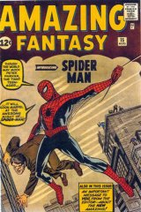 Origins ... Spider-Man's first comic-book appearance, August 1962.