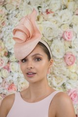 Pia Cattapan is pretty in pink for Oaks Day.