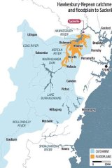 Hawkesbury-Nepean catchment and floodplain to Sackville