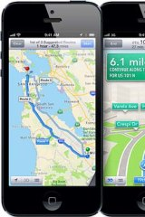 Apple's turn-by-turn navigation.