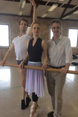 Dancers James Whiteside and Gillian Murphy, with American Ballet Theatre artistic director Kevin McKenzie.