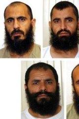 The five Taliban prisoners released in exchange for Sergeant Bergdahl (from top left): Mohammad Nabi Omari, Abdul Haq Wasiq, Noorullah Noori, Mohammed Fazl and Khairullah Khairkhwa.