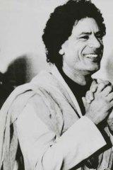 Muammar Gaddafi in 1984.