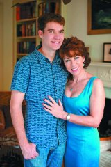 Mother and son: Kathy Lette and Julius.
