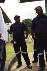 G4s guards on Manus Island shortly after the riots earlier this year.