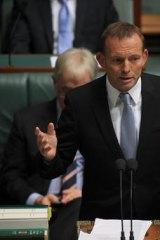 Opposition Leader Tony Abbott in Parliament yesterday.