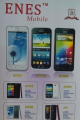 In the top left is a copy of the Samsung Galaxy S3. Top right is an HTC knock-off.