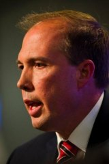 Health Minister Peter Dutton.