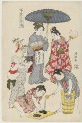 Torii Kiyonaga, <i>Tanabata</i>, from <i>Precious Children's Games of the Five Festivals</i>, c. 1801.