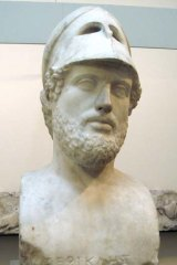 A bust of Pericles.