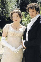 Jennifer Ehle and Colin Firth as Elizabeth Bennet and Mr Darcy in the 1995 BBC adaptation of <i>Pride and Prejudice</i>.