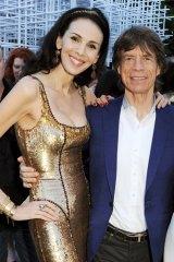 L'Wren Scott with Mick Jagger.