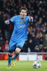 Barcelona's Lionel Messi.