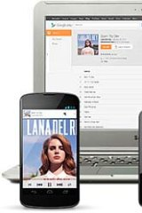 Multiple devices: Google Play Music All Access.