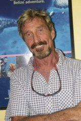John McAfee, who has gone into hiding.