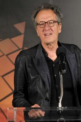 Geoffrey Rush honoured to have his vibrant work in Australian film and theatre recognised.