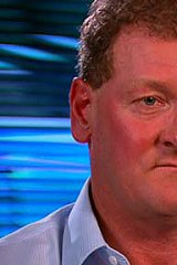Disgraced former agent Ricky Nixon, interviewed on <i>Sunday Night</i>.