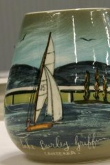 Lake Burley Griffin has become the subject of some works of art, as shown in this jug.