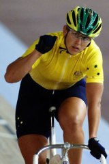 Cyclist Michelle Ferris.