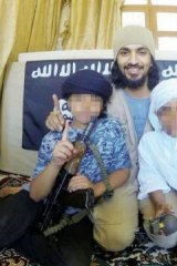 A man identified as Nasser al-Shayeq and his sons Abdullah and Ahmed.