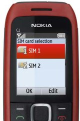 Nokia's new C1 can take two SIM cards.